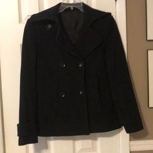 Theory black pea coat